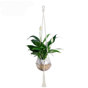 Rope Plants Hanger  ¦ Cotton Rope Flower Pot Holder - A Wine Lovers