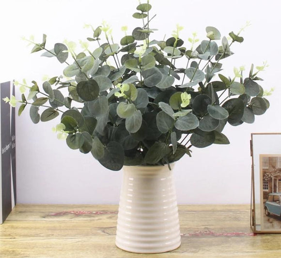 Eucalyptus Leaf Plants ¦ Decorative Green Artificial Branches Leaves A Wine Lovers