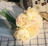 Peonies Flowers Arrangement ¦ Silk Peonies Wedding Arrangement Bouquet - A Wine Lovers