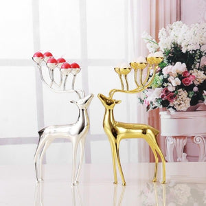 Luxurious Deer Candle Holders Stainless Steel ¦ Wedding Deer Candle Holders - A Wine Lovers
