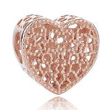 Rose Gold Tree Feather Heart Charms Beads ¦ Womens Charms & Beads Gifts