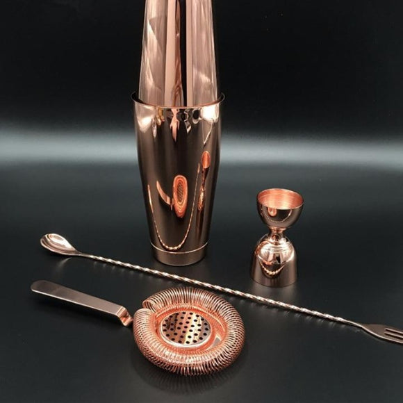 Gold /Copper/Silver Shaker Barware Set ¦ Cocktail Shakers Bar Accessories - A Wine Lovers