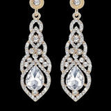 Luxurious Rhinestone Crystal Wedding Earrings a wine lovers