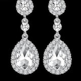 Luxurious Rhinestone Crystal Wedding Earrings ¦ Elegance Silver Black Gold Bridal Dangle Earring