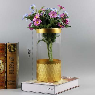 Crystal Vases Gold Hexagon Mosaic Home Decor - A Wine Lovers