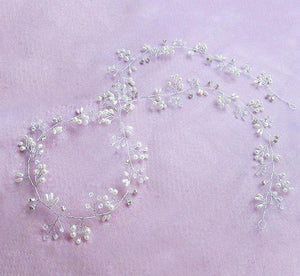 Pearl Hair Bands Accessories ¦  Bridal Crystal Belt & Sashes ¦ Wedding Hair Adornments - A Wine Lovers