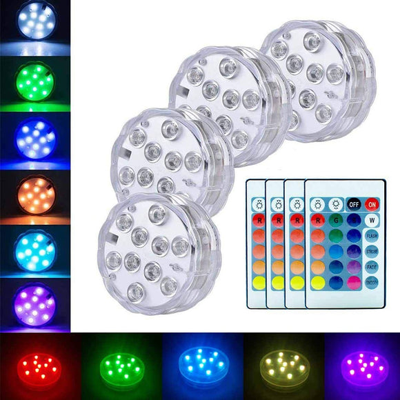 Submersible Led Lights with Remote ¦ Underwater Led Light for Swimming Pool A Wine Lovers