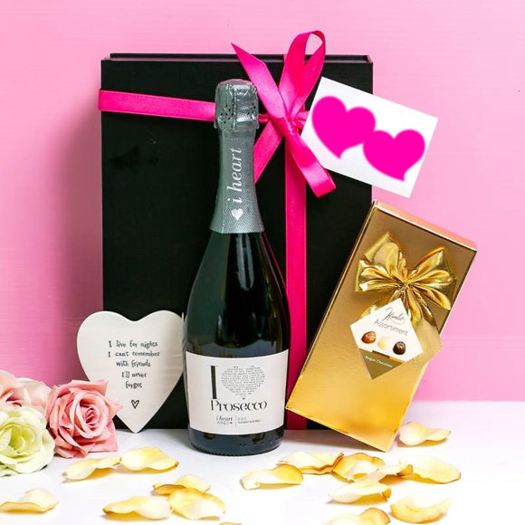 Prosecco and Belgian Chocolates Hamper ¦ Present for Friends ¦ A Wine Lovers
