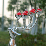 Deer Candle Holders ¦ Silver Metal Reindeer Candle Holders Gifts A Wine Lovers
