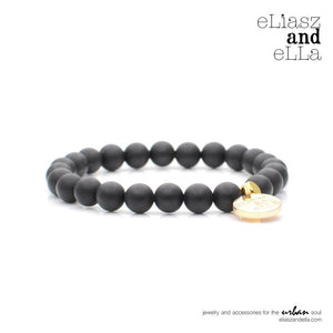 eLias and eLLa Race Onyx Stone Bracelet