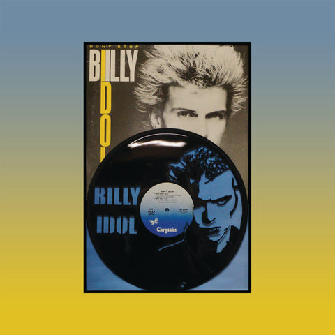 Billy Idol - Don't Stop ~ Limited Run Original Carved Vinyl & Album Cover