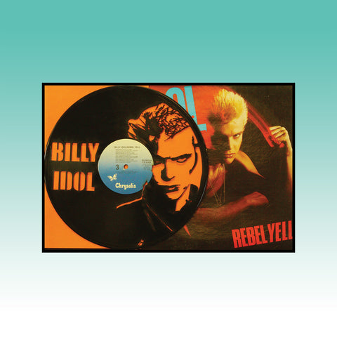 Billy Idol - Rebel Yell ~ Limited run 12x18 Original Carved Vinyl & Album Artwork