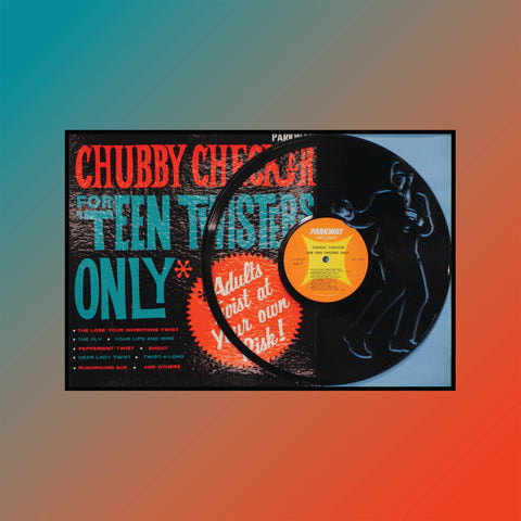 Chubby Checker - For Teen Twisters Only ~ Limited Run Original Carved Vinyl & Album Cover
