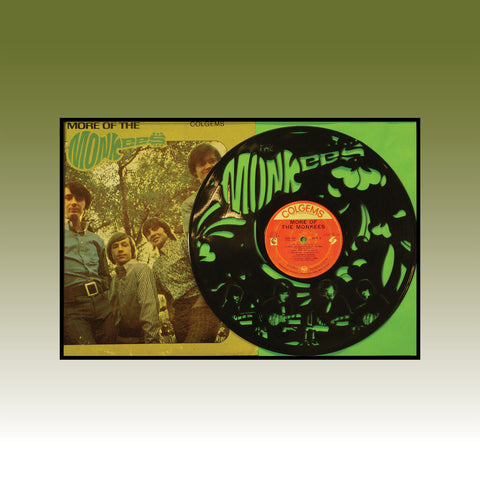 More of The Monkees - Limited run 12x18 Original Carved Vinyl and Album Cover
