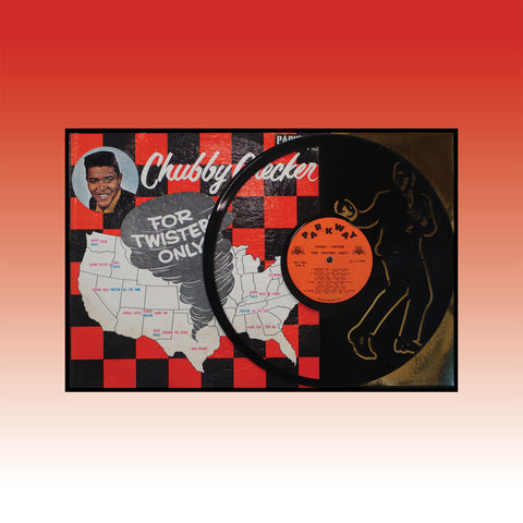 Chubby Checkers - For Twisters Only~ Limited run 12x18 Original Carved Vinyl & Album Cover