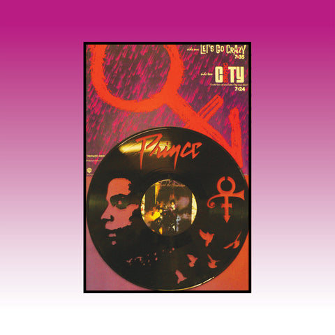 Prince - Let's Go Crazy ~ Limited run 12x18 Original Album Cover