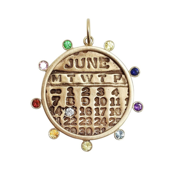 New** Chakra Calendar Charm Necklace