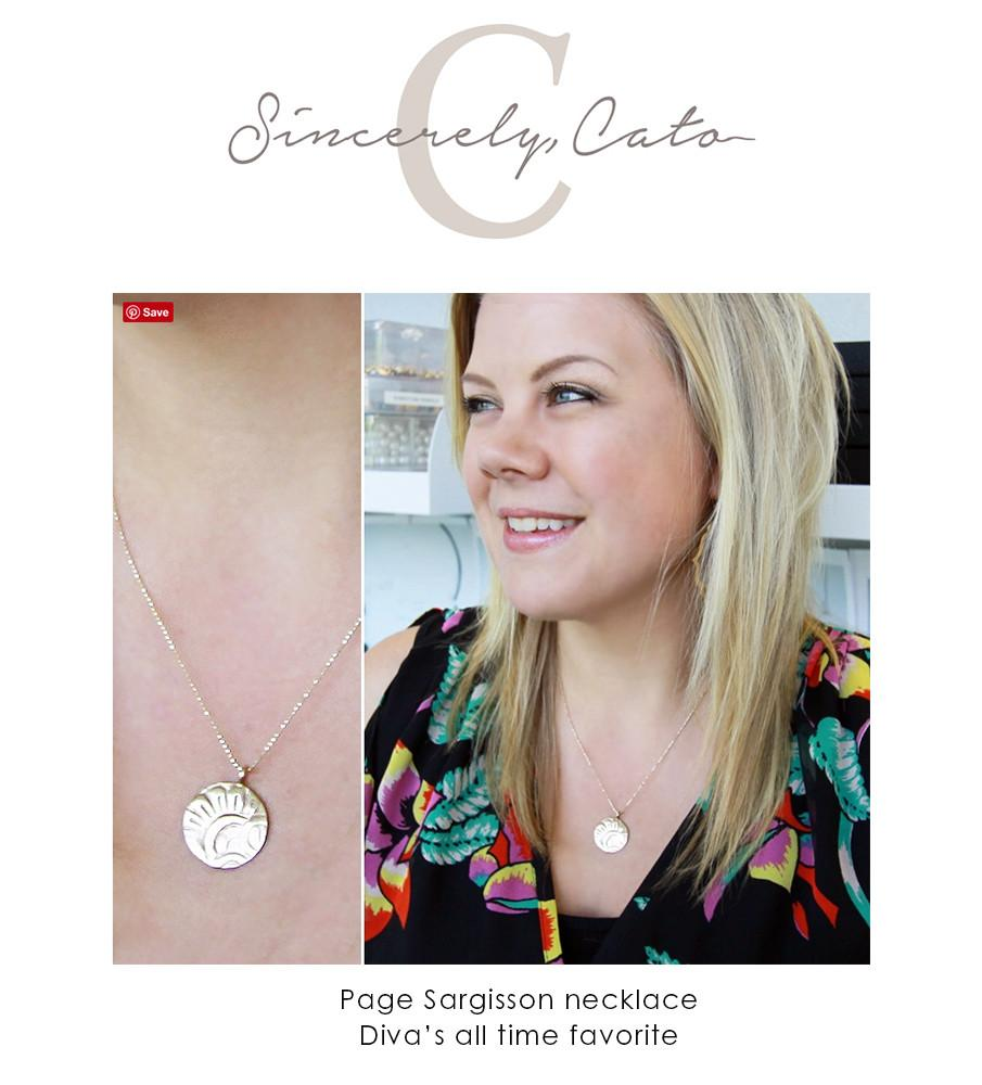 Sincerely Cato - all time favorite necklace by Page Sargisson