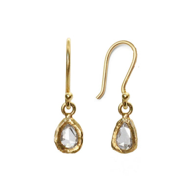 18KT Geometric Diamond Earrings