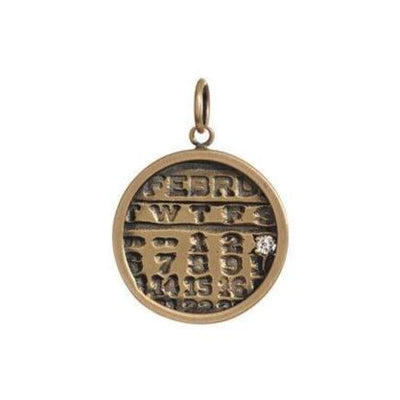 Small Gold Calendar Necklace