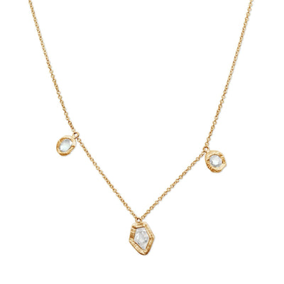 18KT Three Diamond Necklace