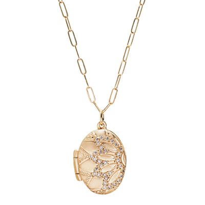 10KT Gold and Diamond Locket