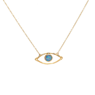 Evil Eye Custom Charm Necklace - For Moms