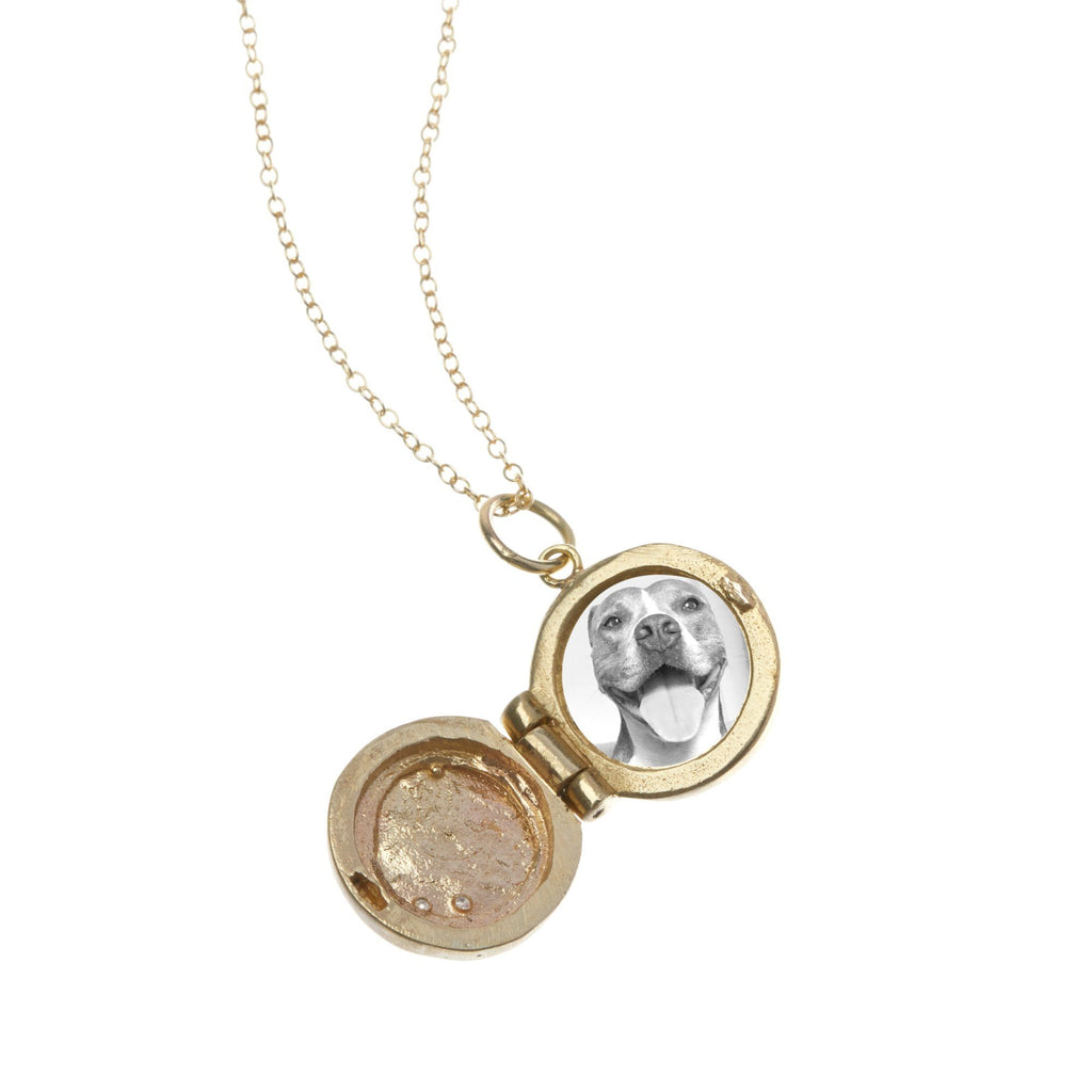 Round Locket with Diamonds
