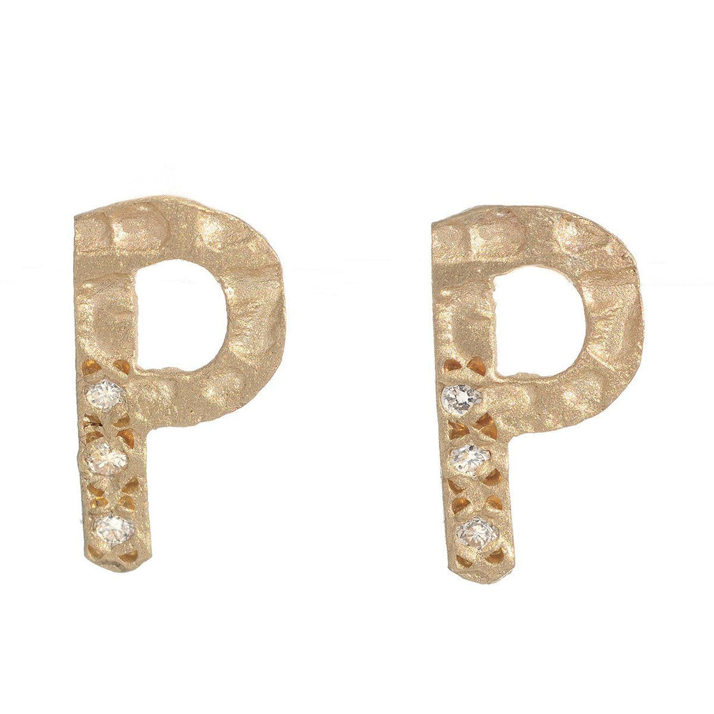 Block Letter Earrings