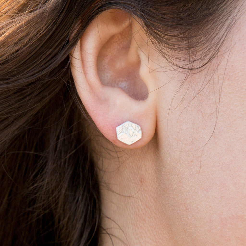 Archer Hexagon Earrings