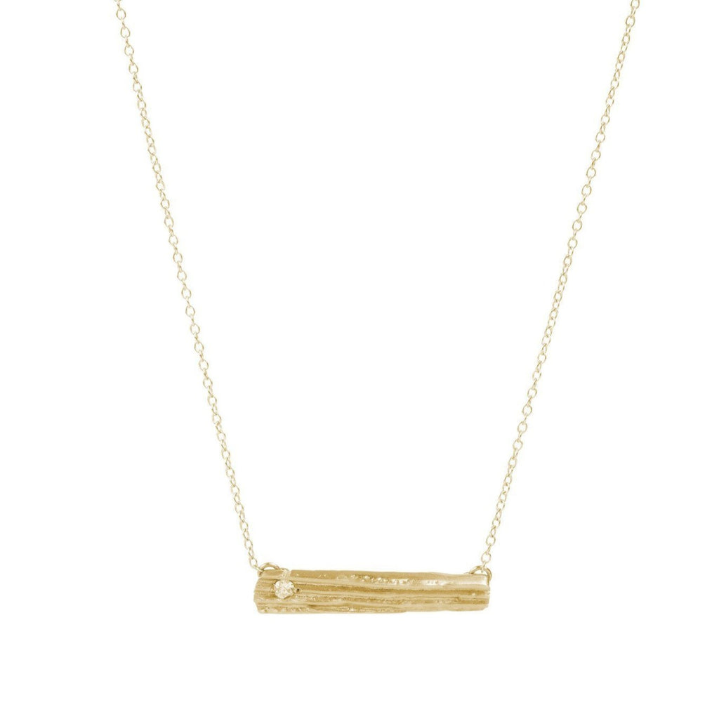 Myla Cross Bar - Gold w/ Diamond