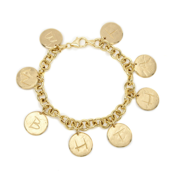 Customized Letter Charm Bracelet
