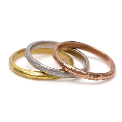 Hand Textured Stacking Rings