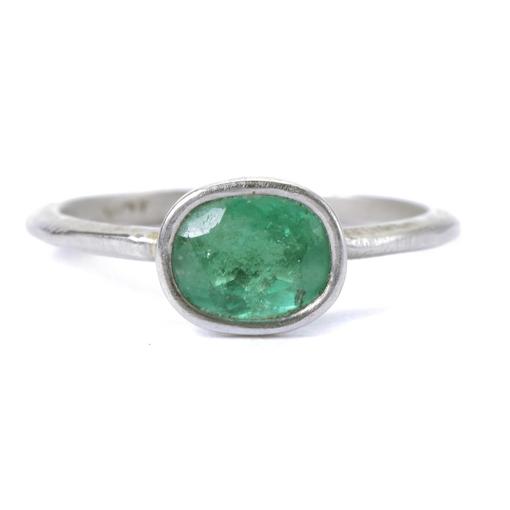 Emerald & Platinum Ring - Custom Engagement Rings Online