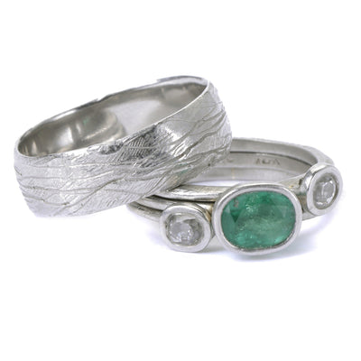 Emerald & Platinum Ring