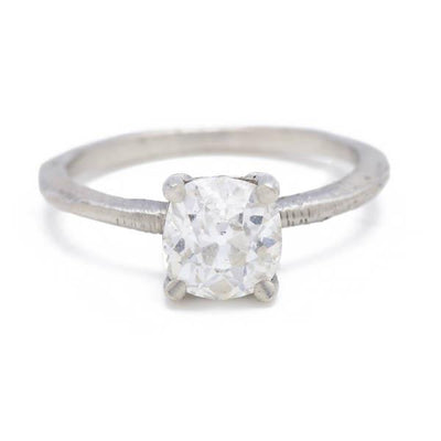 Classic Prong Ring with Antique Diamond