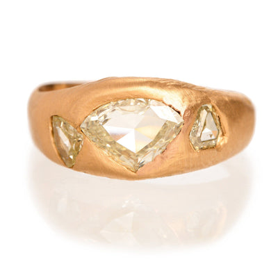 Yellow Diamond and Rose Gold Custom Engagement Ring