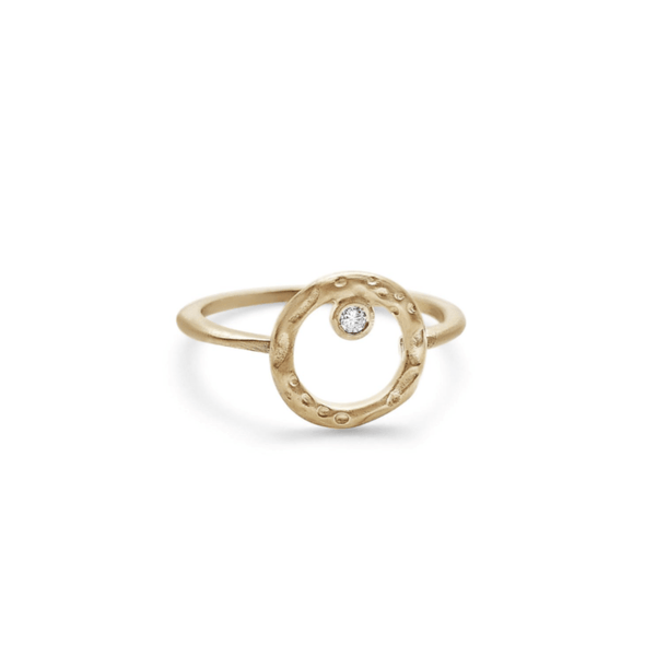 Handmade 10kt gold ring with a diamond.