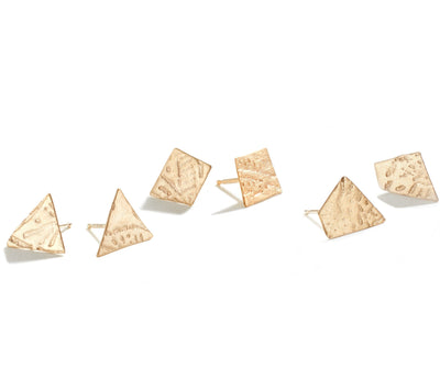 Funky Cut Out Studs - Handmade Fine Jewelry Brooklyn
