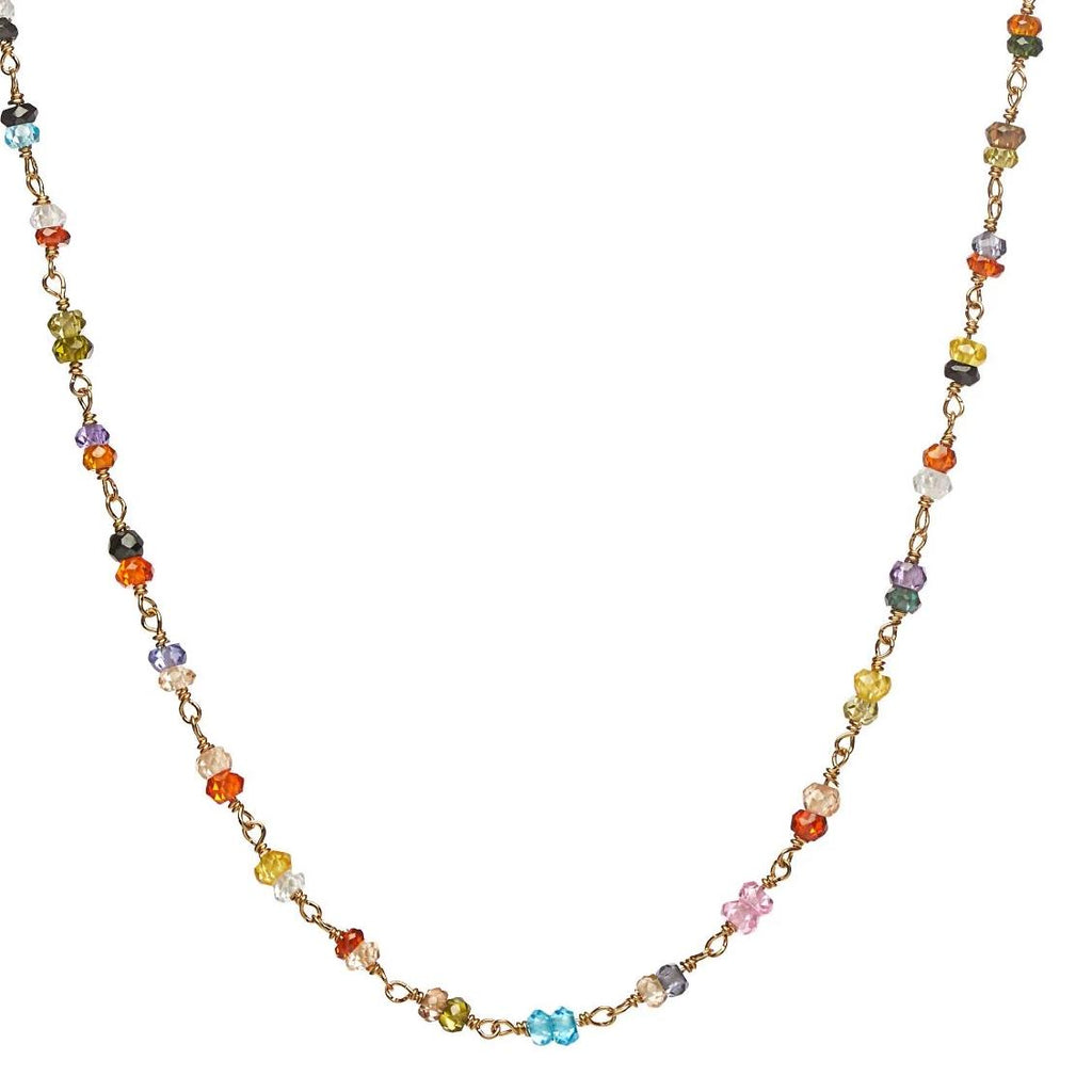 Multi- Gem Wrap Chain