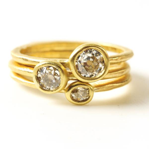 Custom Wedding Rings.Custom Bridal Rings In 18kt Gold