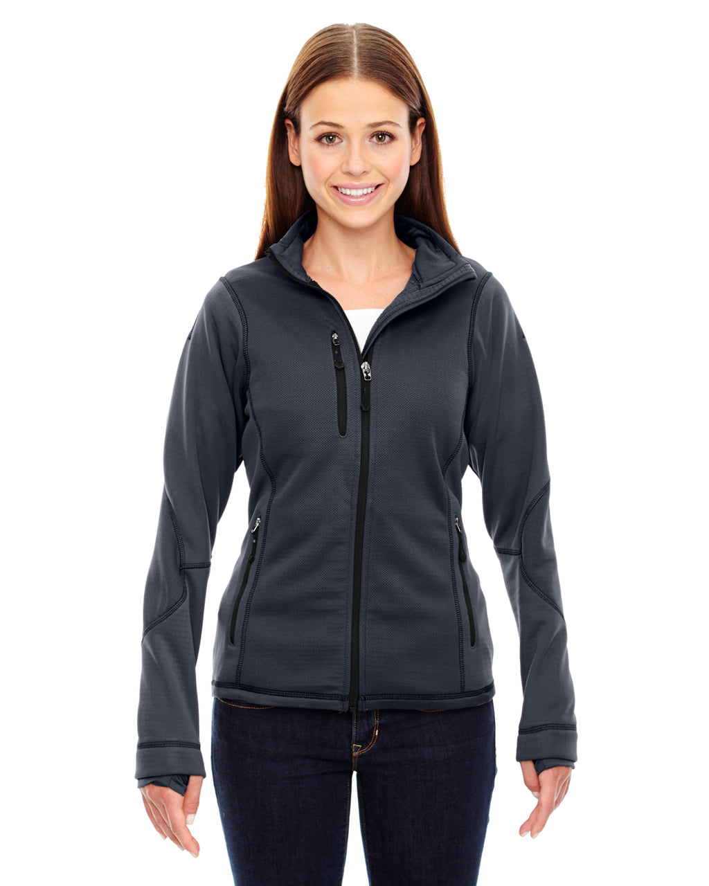 78681 Ash City - North End Ladies' Pulse Textured Bonded Fleece Jacket