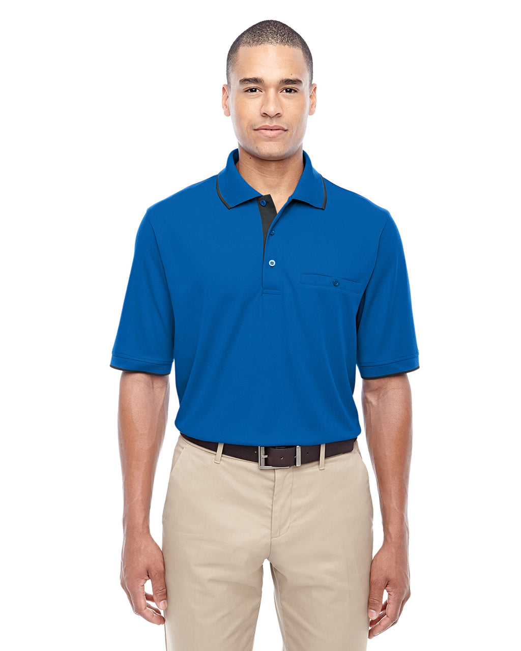 88222 - Core 365 Men's Motive Performance Piqué Polo with Tipped Collar
