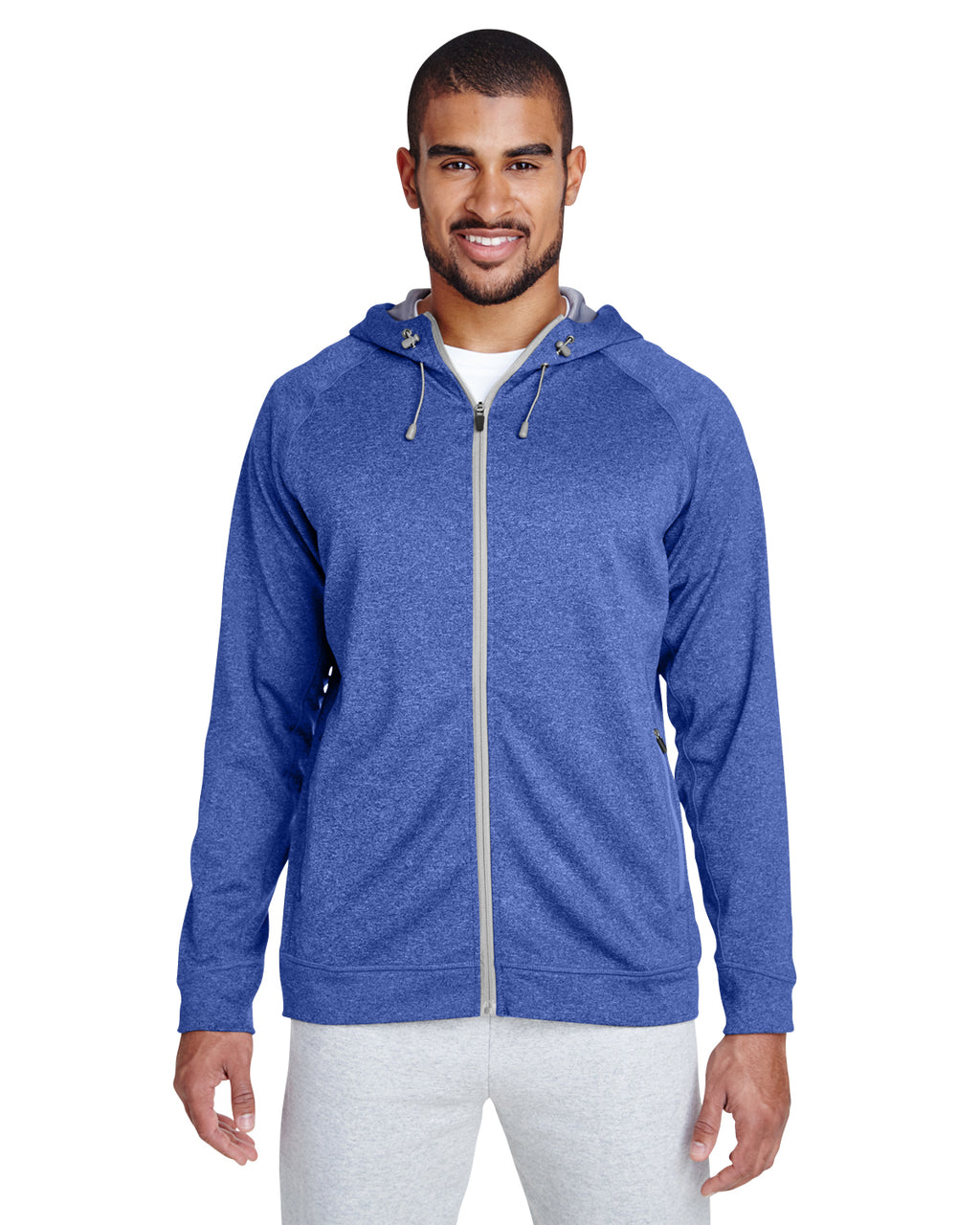 TT38 - Team 365 Men's Excel Mélange Performance Fleece Jacket