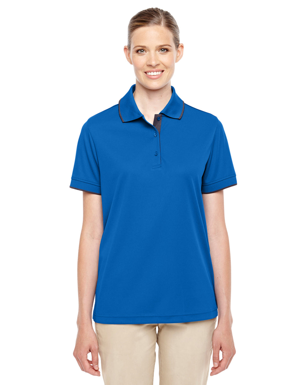 78222 - Core 365 Ladies' Motive Performance Piqué Polo with Tipped Collar