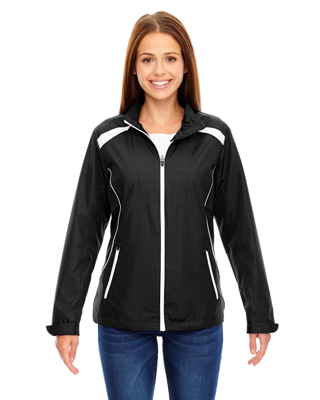 78188 - North End Ladies' Tempo Lightweight Recycled Polyester Jacket with Embossed Print