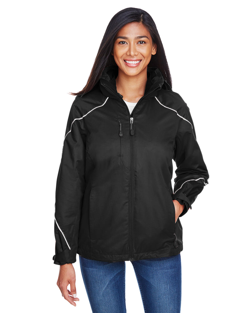 78196 - North End Ladies' Angle 3-in-1 Jacket with Bonded Fleece Liner
