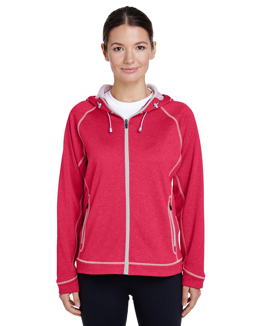 TT38W - Ladies' Excel Mélange Performance Fleece Jacket