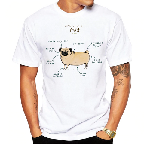 Anatomy of a Pug - Cotton Tee