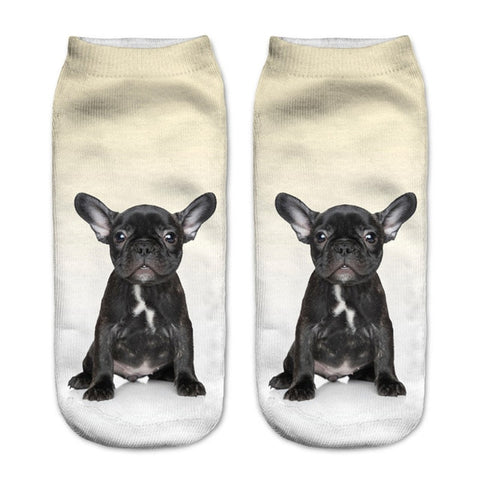 Adorable French Bulldog Puppy Low Cut Ankle Socks